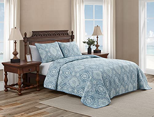 Tommy Bahama Home Turtle Cove Collection Quilt Set-100% Cotton, Reversible...