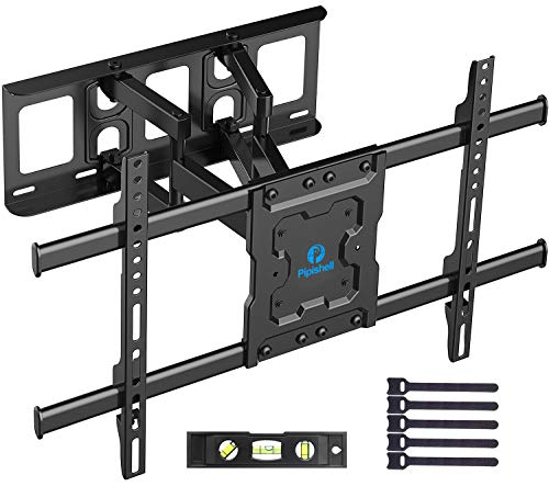 Full Motion TV Wall Mount Bracket Dual Articulating Arms Swivels Tilts...