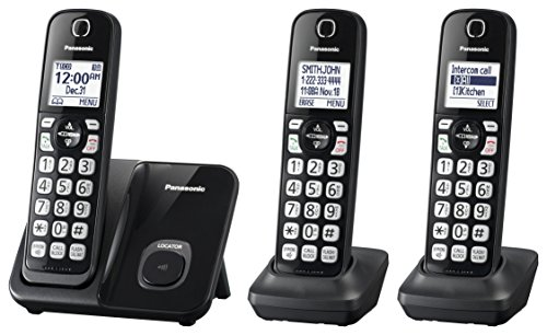 Panasonic Expandable Cordless Phone System with Call Block and High...