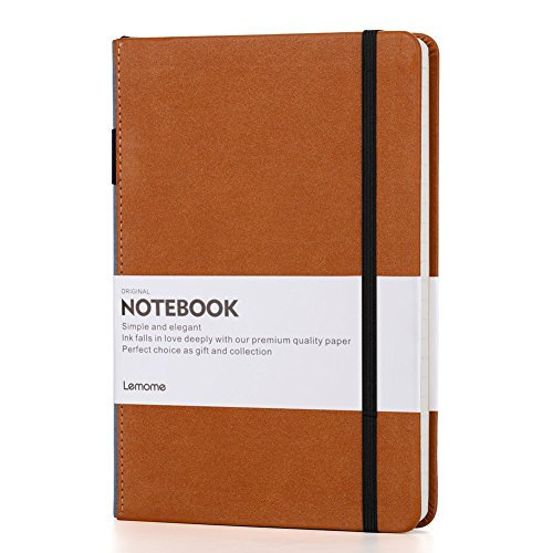 Thick Classic Notebook with Pen Loop - Lemome A5 Wide Ruled Hardcover...