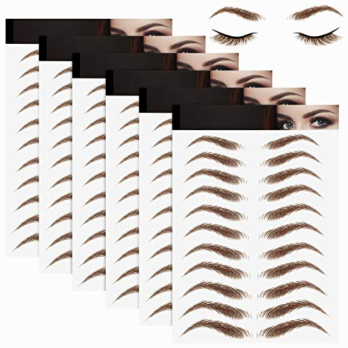 6 Sheets 3D Hair-Like Authentic Eyebrows Eyebrow Transfer Stickers...