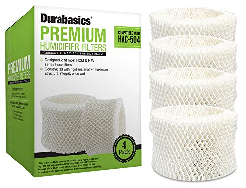 Durabasics 4 Pack of Premium Humidifier Filters Compatible with Honeywell...