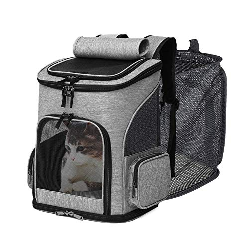 IREENUO Cat Backpack Carrier - Expandable Mesh Breathable Foldable Pet...