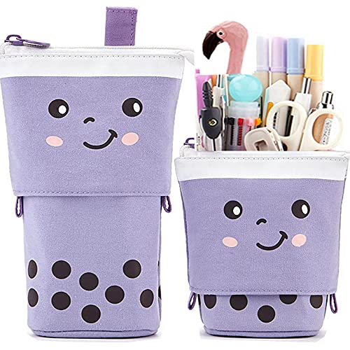 Friinder Cute Pen Pencil Telescopic Holder Pop Up Stationery Case, Stand-up...