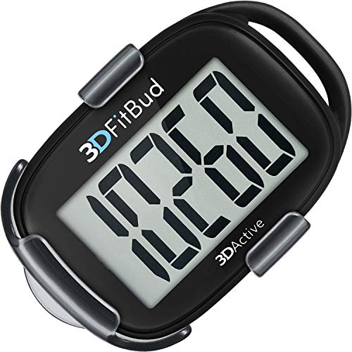 3DFitBud Simple Step Counter Walking 3D Pedometer with Lanyard, A420S...