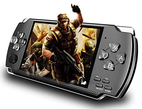 EDCsalute Handheld Game Console, Built-in 1200 Classic Games 4.3'' HD...