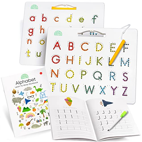 Magnetic Letter Board & Magnetic Letters Toddler Toys – Double Sided ABC...