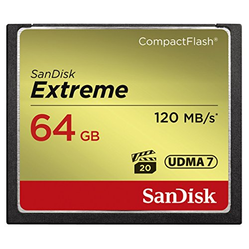 SanDisk 64GB Extreme CompactFlash Memory Card UDMA 7 Speed Up To 120MB/s -...