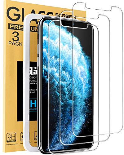 Mkeke Compatible with iPhone 11 Pro Max Screen Protector, iPhone Xs Max...