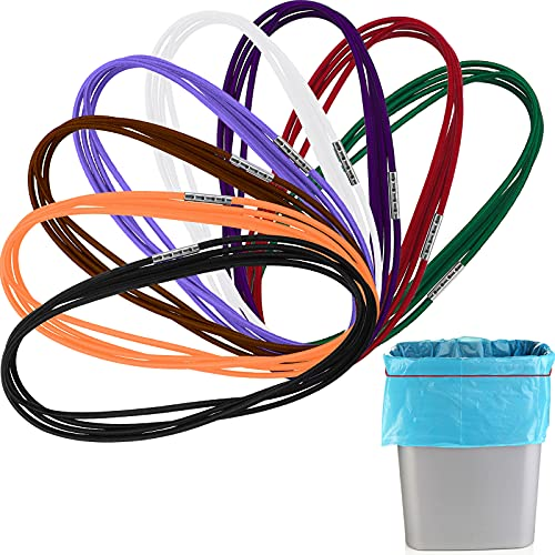 8 Pieces 3.28 Ft Garbage Can Bag Holder 13-30 Gallon Trash Can Band Holder,...
