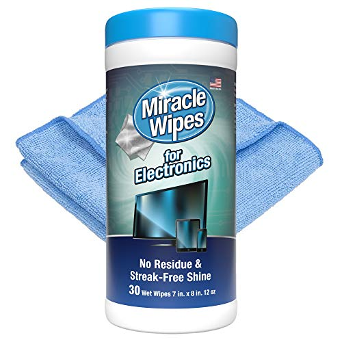 MiracleWipes for Electronics Cleaning - Screen Wipes Designed for TV,...