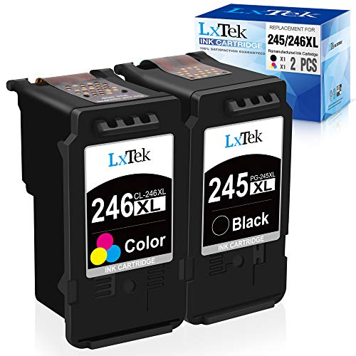 LxTek Remanufactured Ink Cartridge Replacement for Canon PG-245XL CL-246XL...