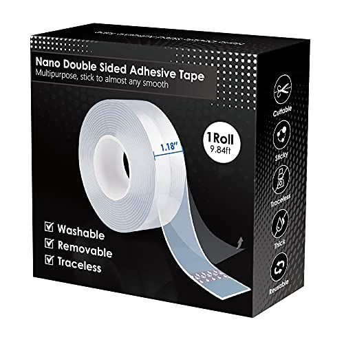 Nano Double Sided Tape Heavy Duty,Multipurpose Transparent Poster Tape for...