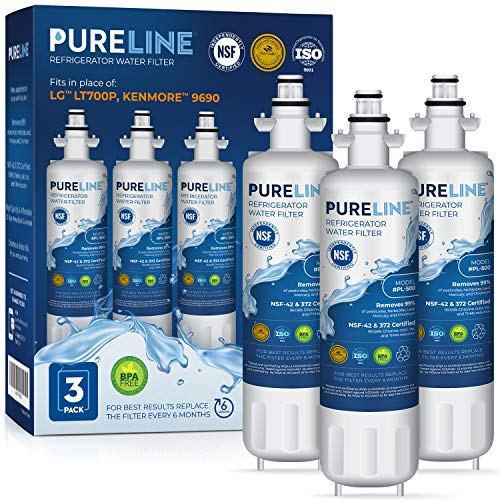 Pureline LT700P Replacement Water Filter, Also Fits Kenmore Elite 46-9690,...