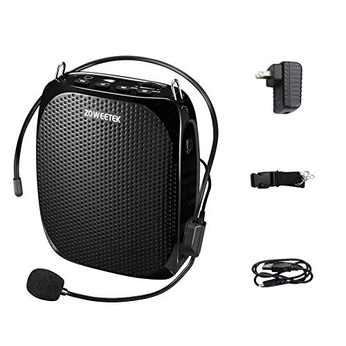 ZOWEETEK Portable Rechargeable Mini Voice Amplifier with Wired Microphone...