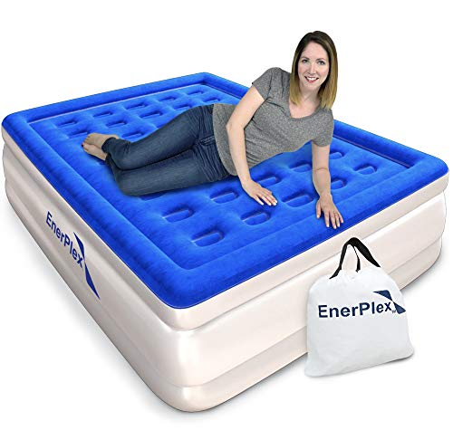 EnerPlex Queen Air Mattress for Camping, Home & Travel - 16 Inch Double...