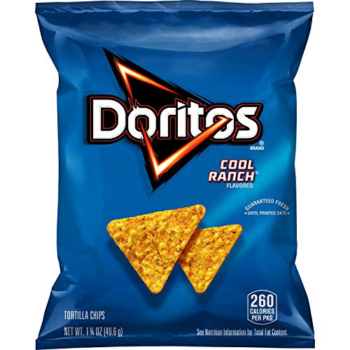 Doritos Cool Ranch Flavored Tortilla Chips, 1.75 Ounce (Pack of 64)...
