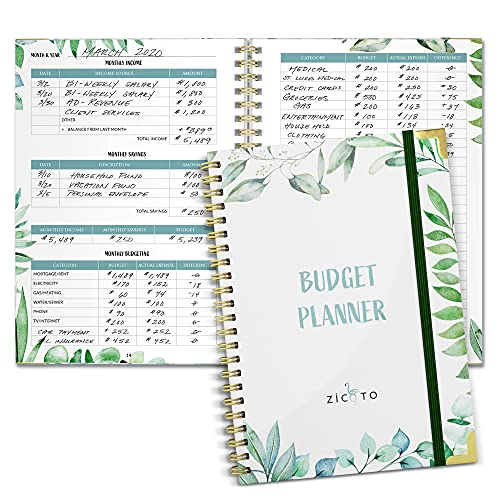 Simplified Monthly Budget Planner - Easy Use 12 Month Financial Organizer...