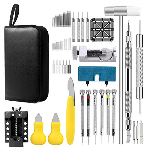 Watch Repair Kit, Professional Watch Band Link Removal Tool, Watch Battery...