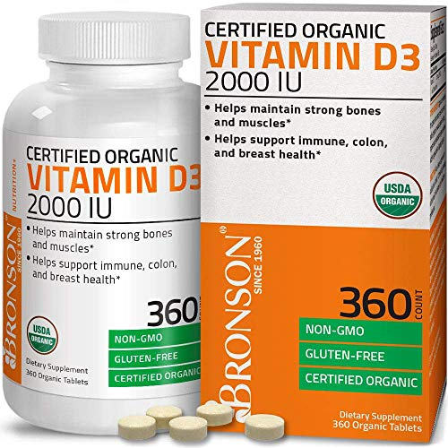 Bronson Vitamin D3 2,000 IU (1 Year Supply) for Immune Support, Healthy...