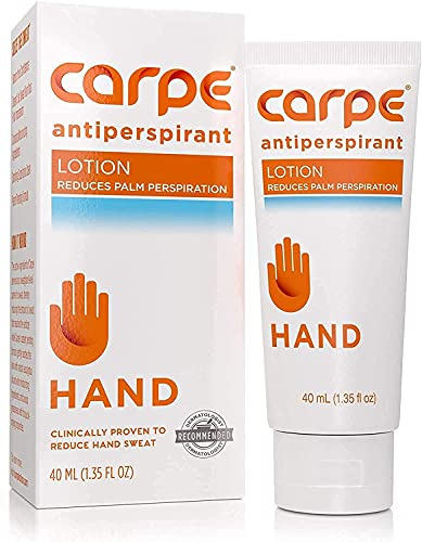 Carpe Antiperspirant Hand Lotion, A dermatologist-recommended,...