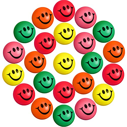 30 Pieces Red/Pink Heart Smile Funny Face Stress Balls, Mini Foam Ball,...
