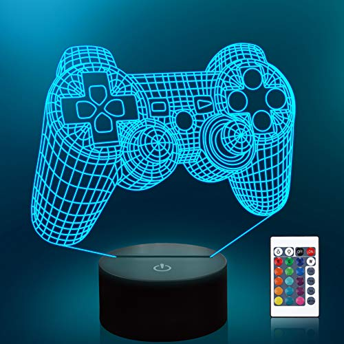 Lampeez 3D Gamepad Lamp Game Console Night Light 3D Illusion lamp for Kids,...