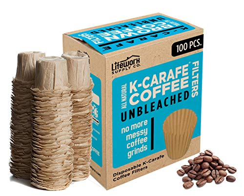 100% Natural Brown Unbleached Disposable Paper Coffee Filters - Replacement...