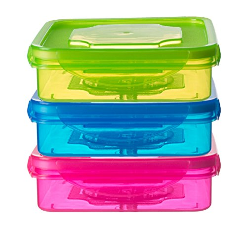 Set of 3 Sandwich Container for Lunch Boxes - Sandwich Box For Kids &...