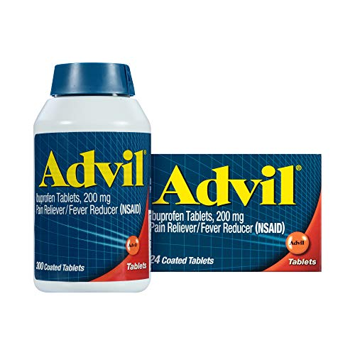 Advil Pain Reliever and Fever Reducer, Pain Relief Medicine with Ibuprofen...