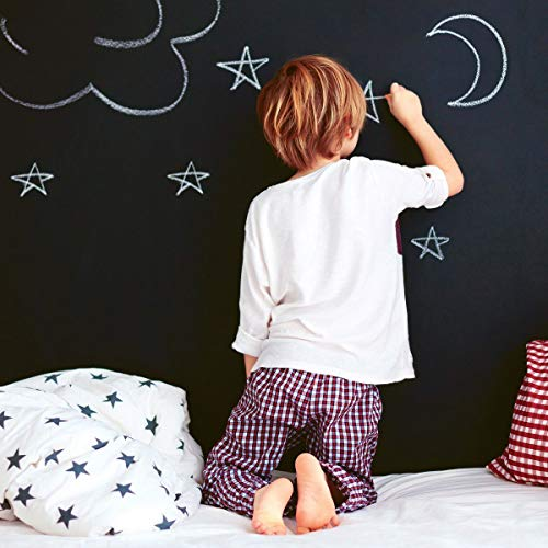 Tempaper CH10587 Chalkboard Removable Peel and Stick Wallpaper, 28 sq ft,...