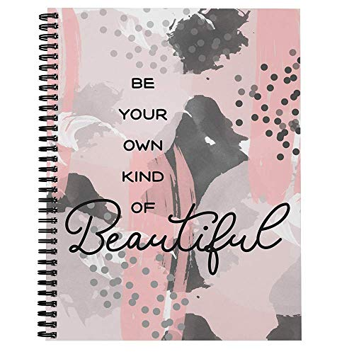 Softcover Own Kind of Beautiful 8.5' x 11' Motivational Spiral...