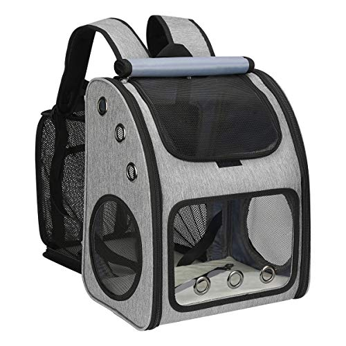 COVONO Expandable Pet Carrier Backpack for Cats, Dogs and Small Animals,...