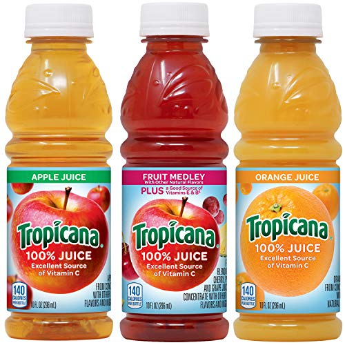 Tropicana 100% Juice 3-flavor Classic Variety Pack, 10 Ounce Bottles, 24...
