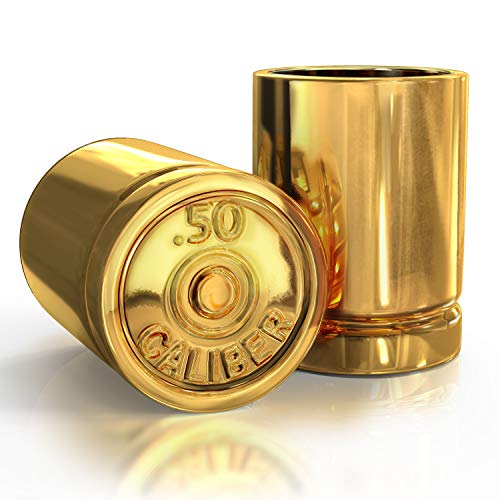 50 Caliber Bullet Shot Glass Groomsmen Gifts For Dad Birthday Gift Man Cave...