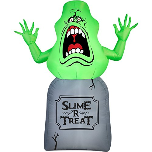 Halloween Inflatable 5 Slimer on Tombstone Ghost Busters Prop Decoration By...