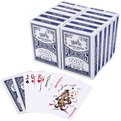 LotFancy Playing Cards, Poker Size Standard Index, Decks of Cards (Blue or...