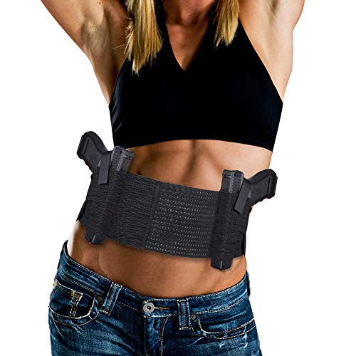 Accmor Belly Band Holster for Concealed Carry, Elastic Breathable Waistband...