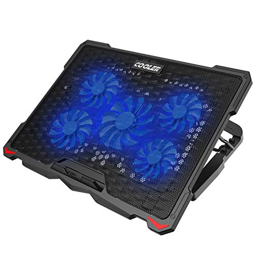 AICHESON Laptop Cooling Pad 5 Fans Up to 17.3 Inch Heavy Notebook Cooler,...