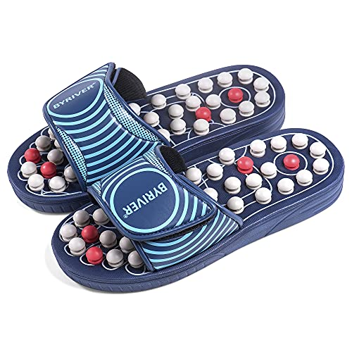 BYRIVER Reflexology Foot Massager Tools, Acupuncture Massage Slippers Shoes...