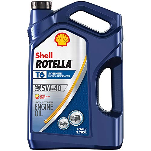 Shell Rotella T6 Full Synthetic 5W-40 Diesel Engine Oil (1-Gallon, Case of...