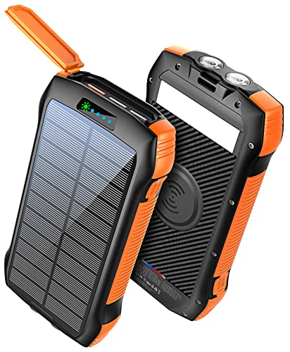 Power Bank Fast Charging 33500mAh Solar Phone Charger, Portable Charger...