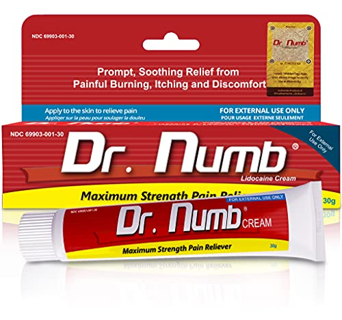 Dr. Numb 5% Lidocaine Topical Anesthetic Numbing Cream for Pain Relief,...