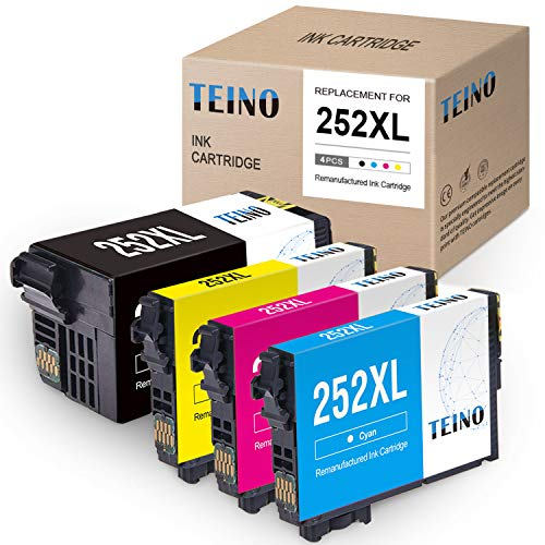 TEINO Remanufactured Ink Cartridges Replacement for Epson 252 252XL 252 XL...
