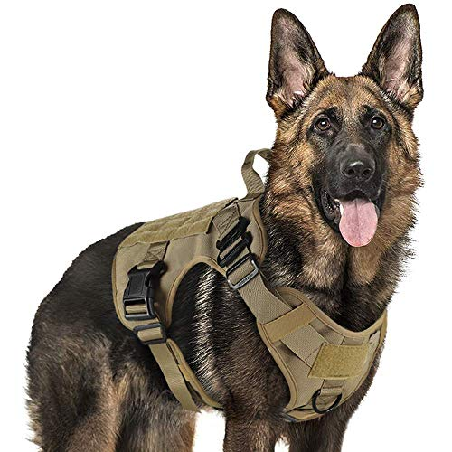 rabbitgoo Tactical Dog Harness for Large Dogs, Military Dog Harness with...