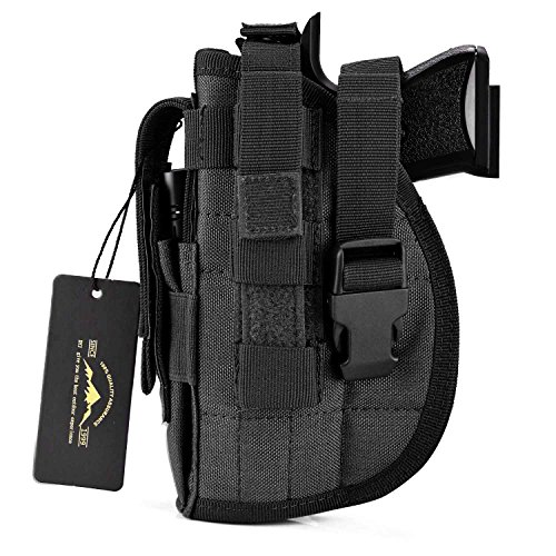 DYJ Left Hand Tactical Pistol/Gun Holster with Magazine Pouch/Pocket for...