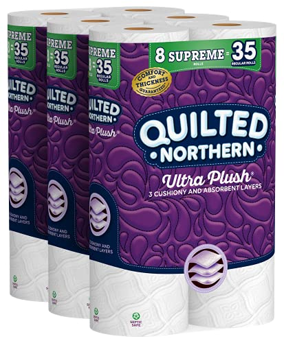 Quilted Northern Ultra Plush Toilet Paper, 24 Supreme Rolls = 105 Regular...