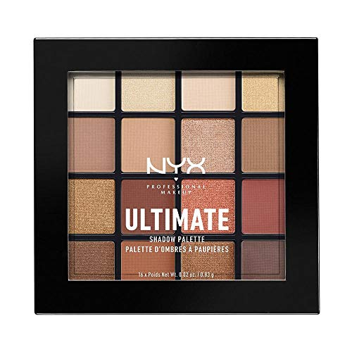 NYX PROFESSIONAL MAKEUP Ultimate Shadow Palette, Eyeshadow Palette, Warm...