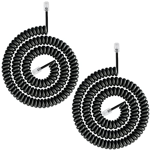 Telephone Phone Handset Cable Cord,Uvital Coiled Length 0.72 to 6 Feet...