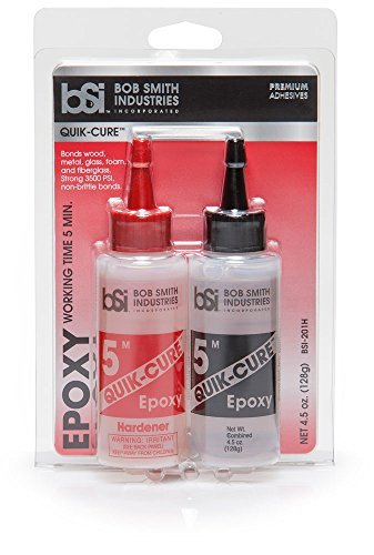 Bob Smith Industries BSI-201 Quik-Cure Epoxy (4.5 oz. Combined),Clear